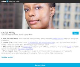 LinkedIn Top Media Voices 2015